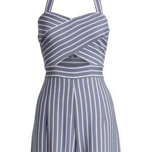 NWT- Leith convertible striped jumpsuit